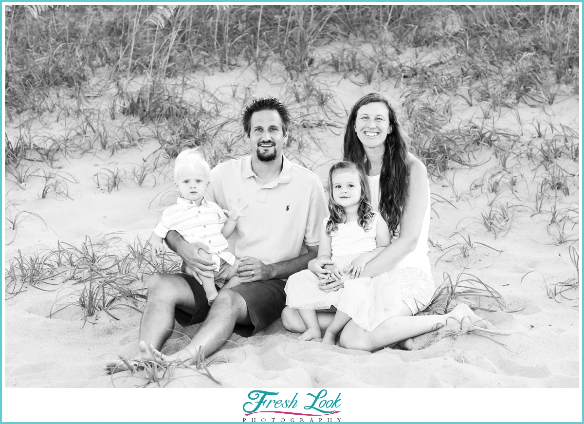 family photos on Sandbridge Beach