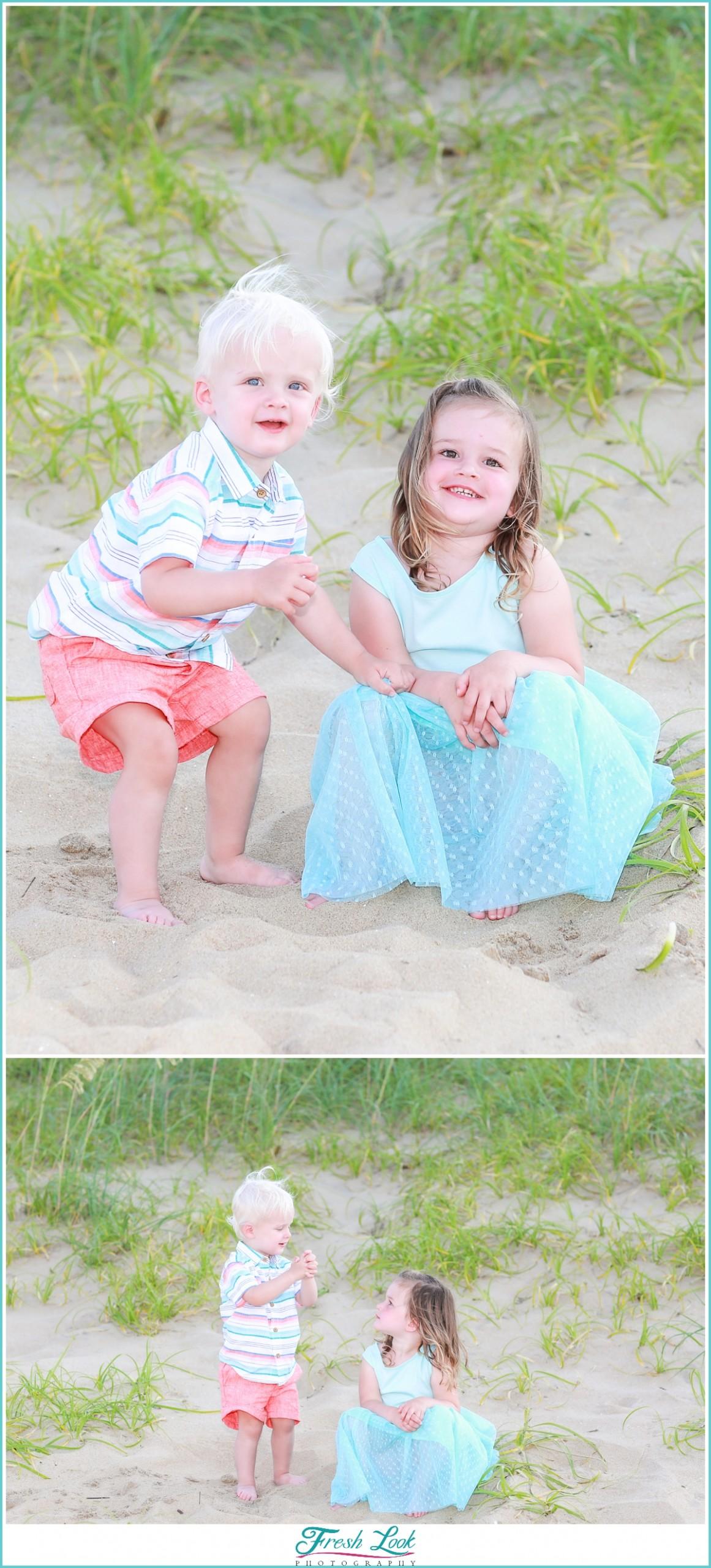 kids beach photoshoot
