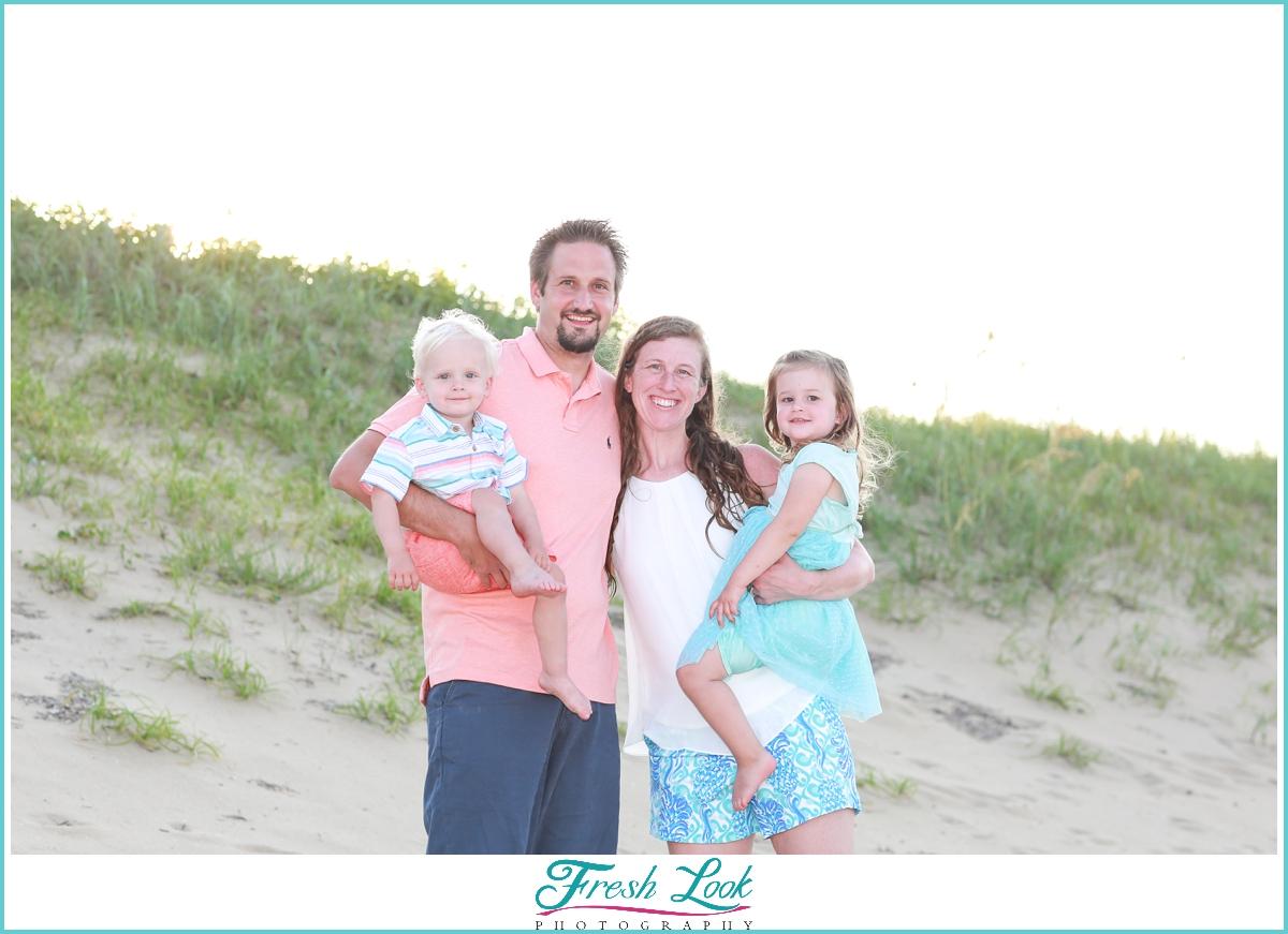 Sandbridge beach family portraits