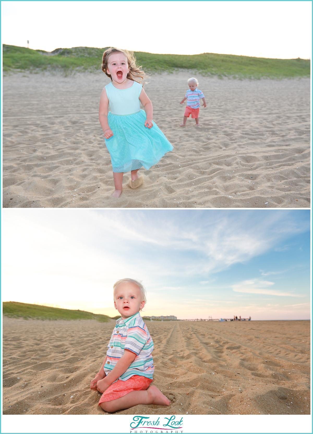 kids being kids beach photos