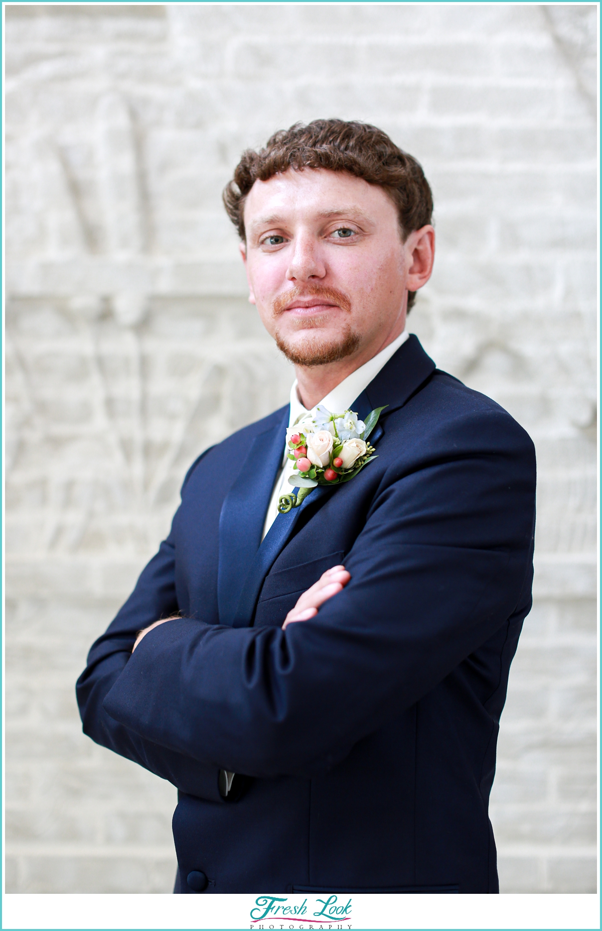 handsome groom portrait idea