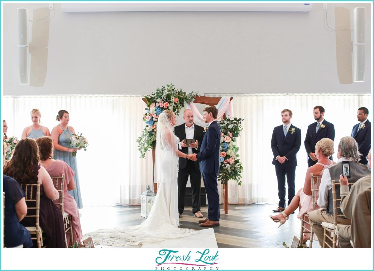 Kiln Creek Wedding Ceremony Indoors