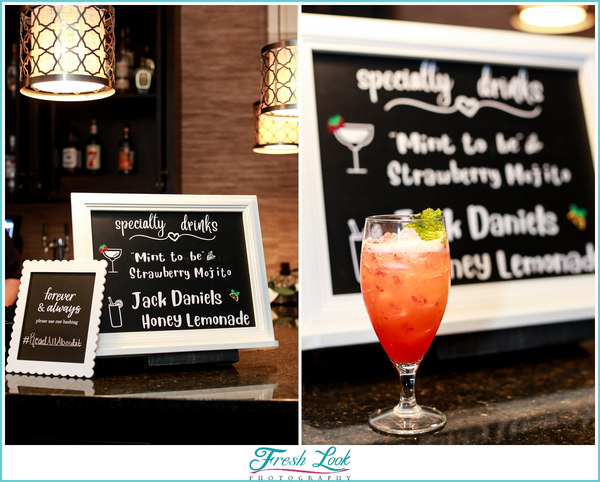 Signature Drink for bride and groom
