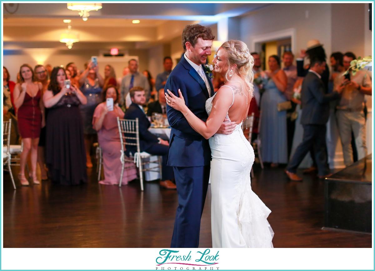 first dance at wedding reception