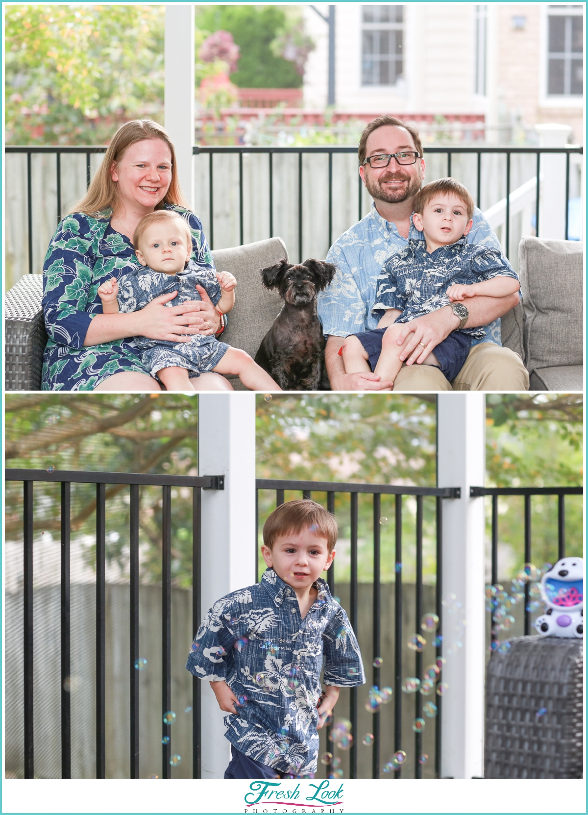 Family photos at home during Covid 19