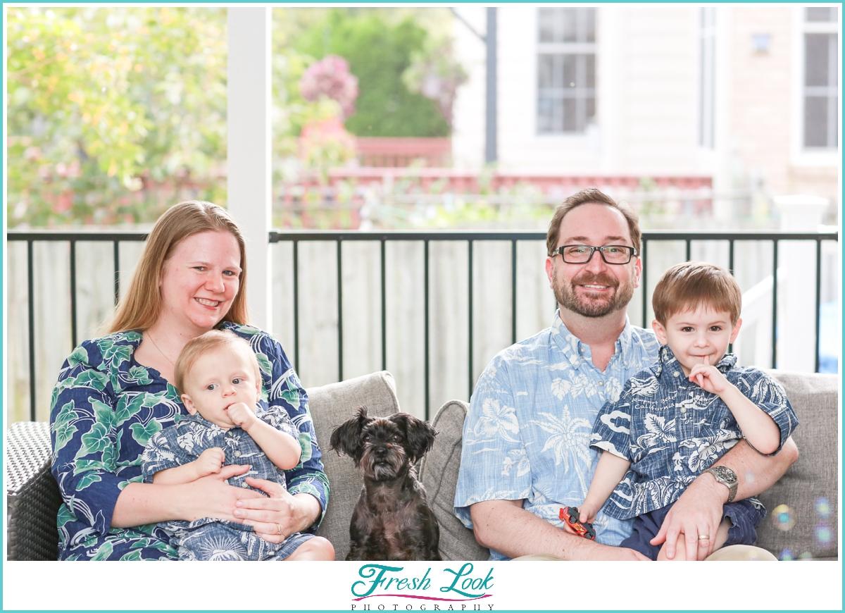 Hawaiian themed family photos