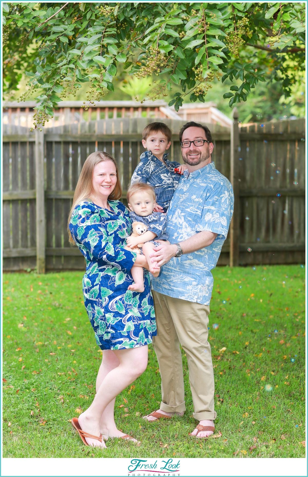 fun family photos at home