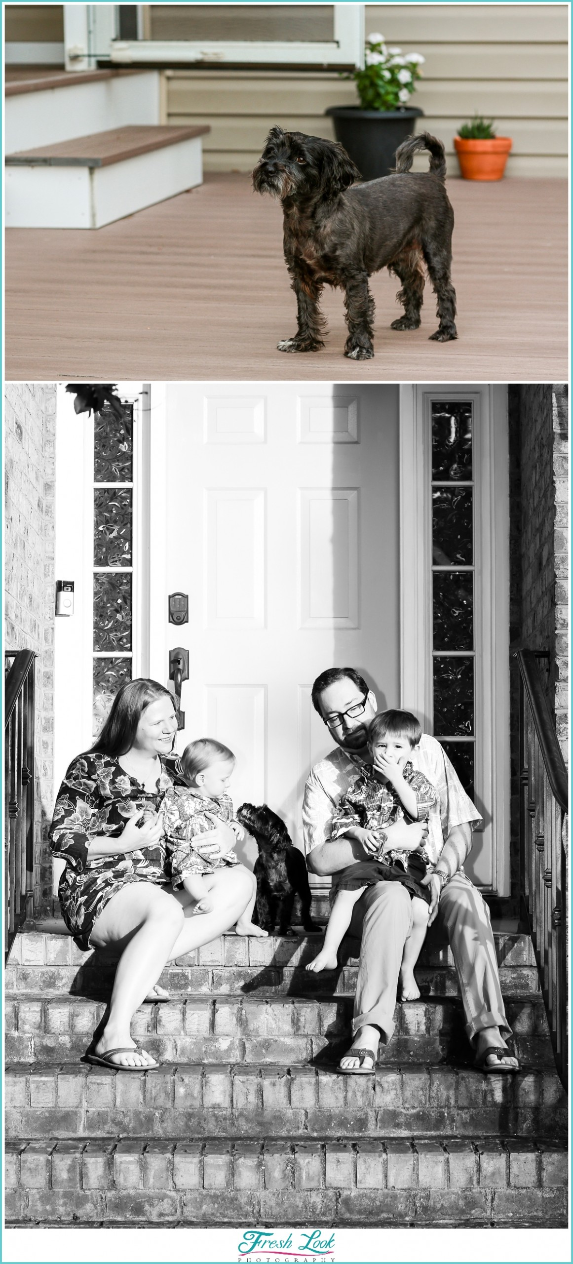 socially distant family photoshoot