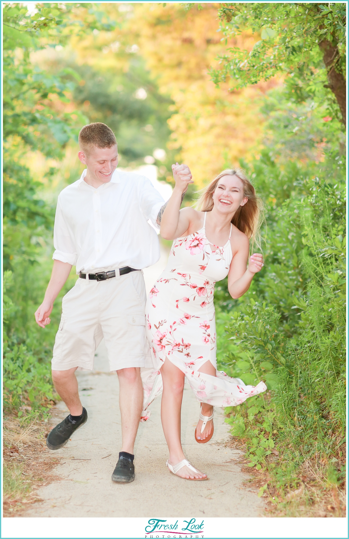 Fun Virginia Beach Engagement Photographer