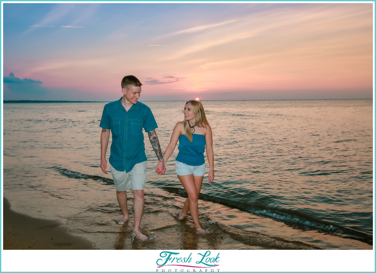 sunset proposal photographer