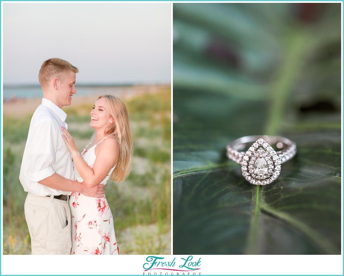 Romantic Virginia Beach engagement session