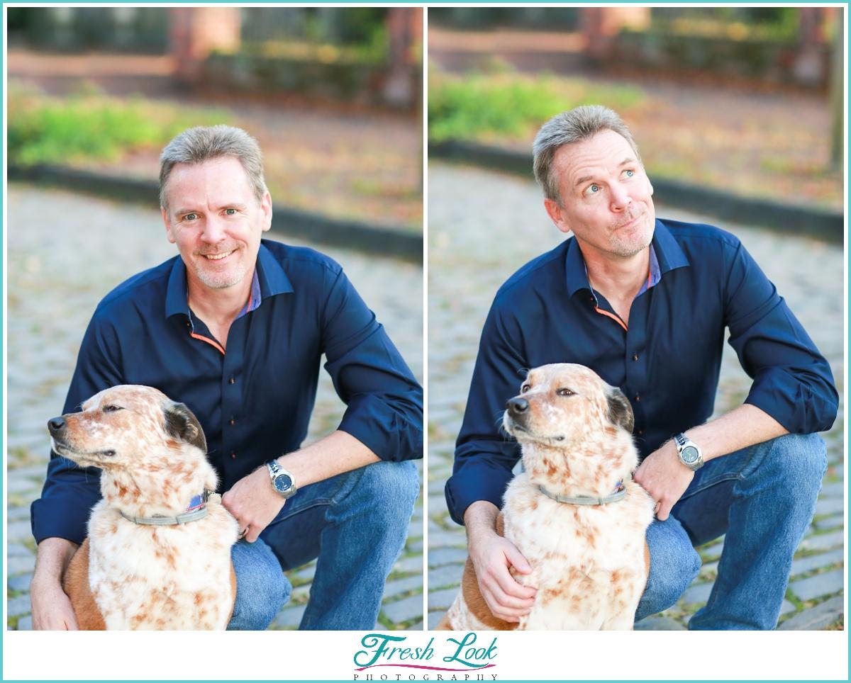 man's best friend photoshoot