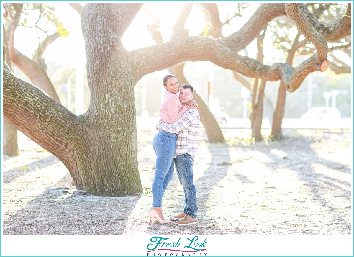 Engagement Photos with Live Oaks