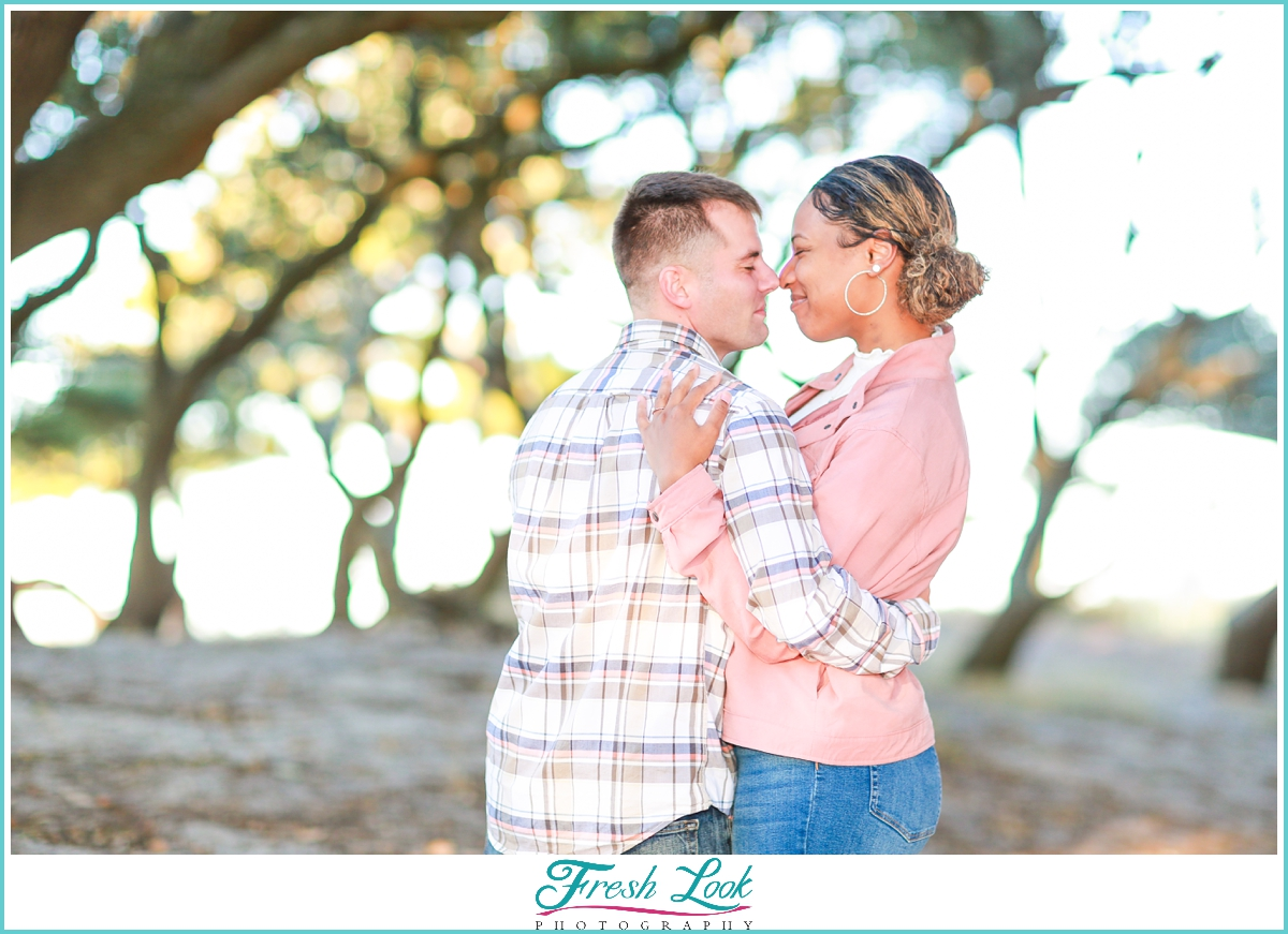 romantic afternoon engagement photoshoot