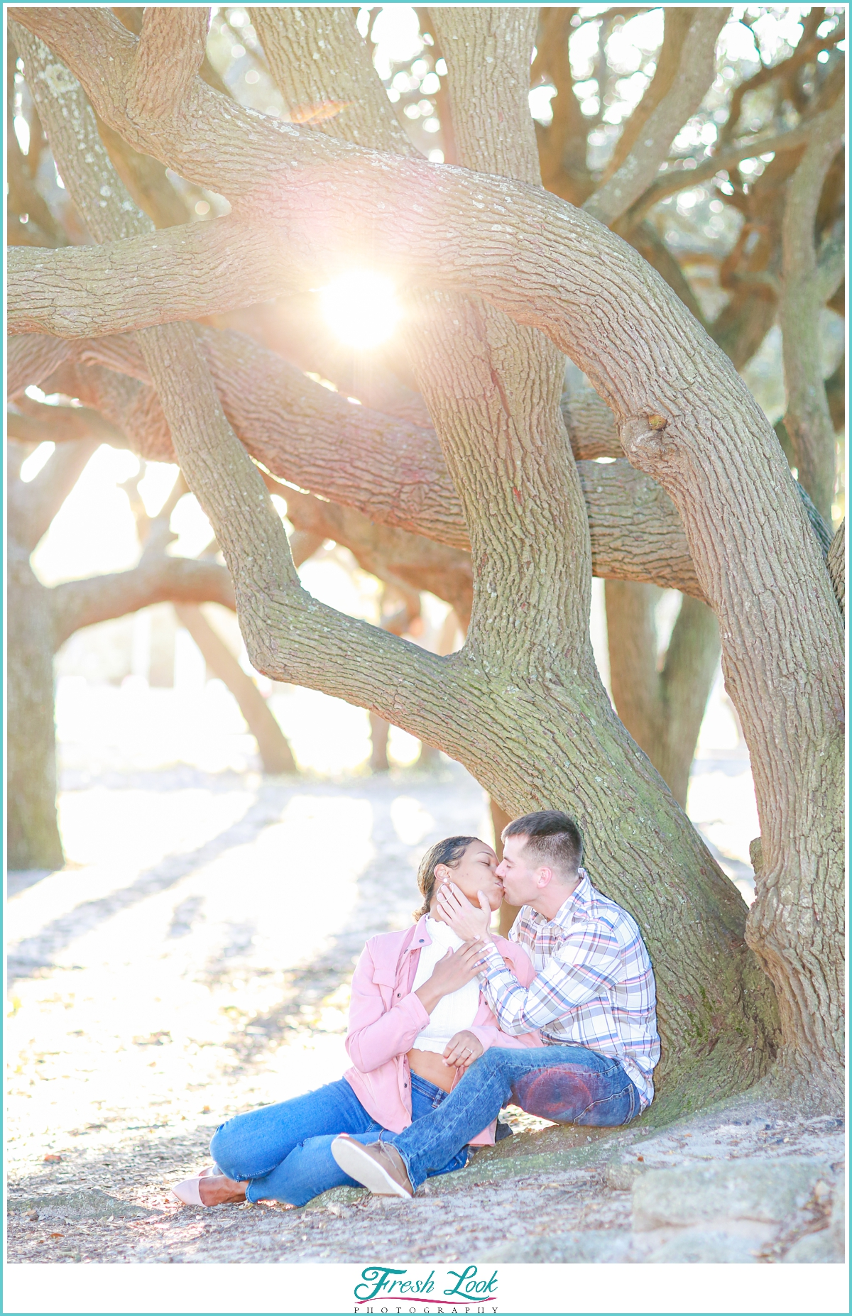 afternoon light engagement session