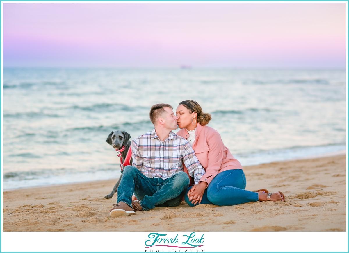 Norfolk VIrginia engagement photoshoot