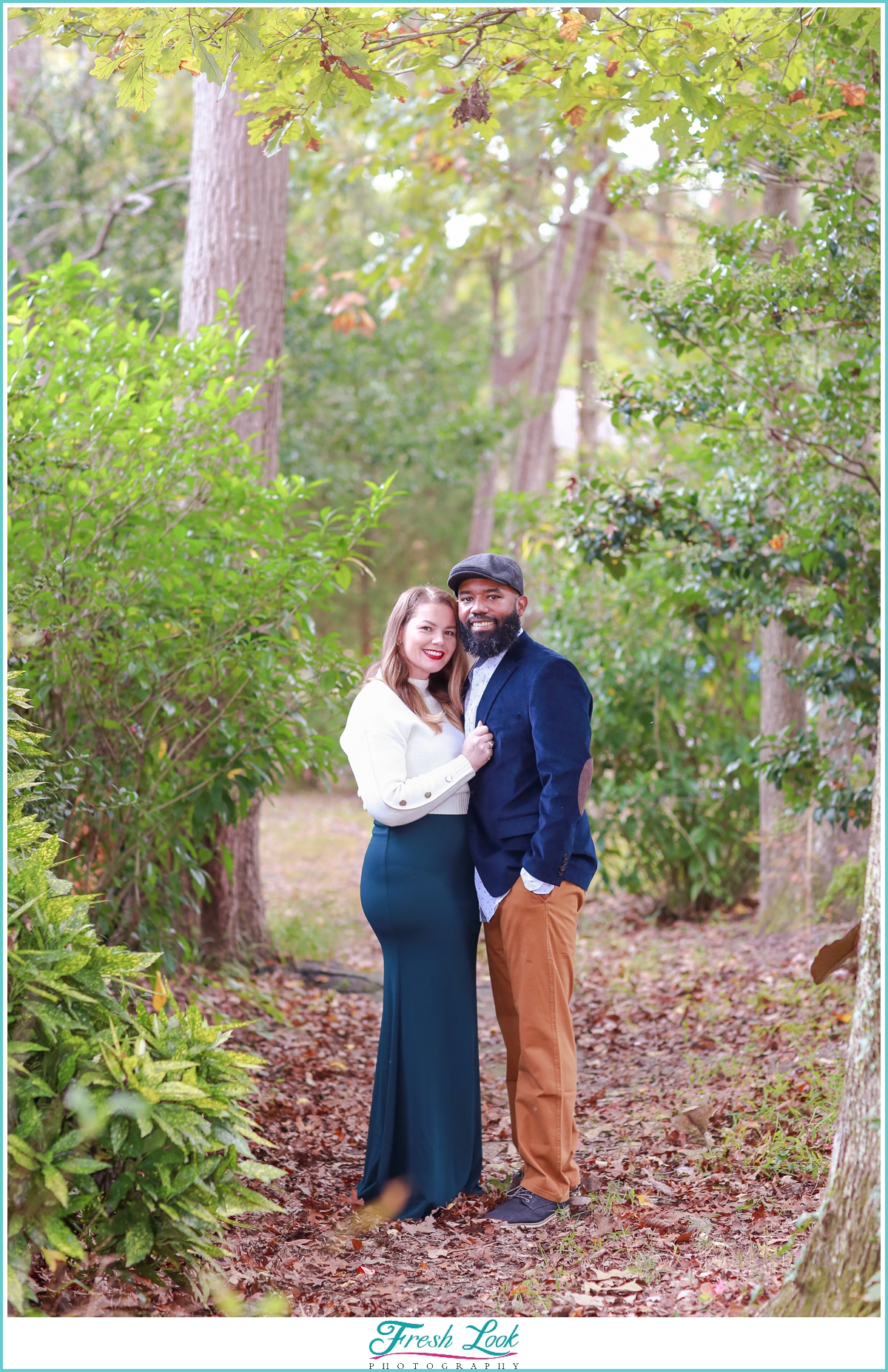 woodsy couples photoshoot
