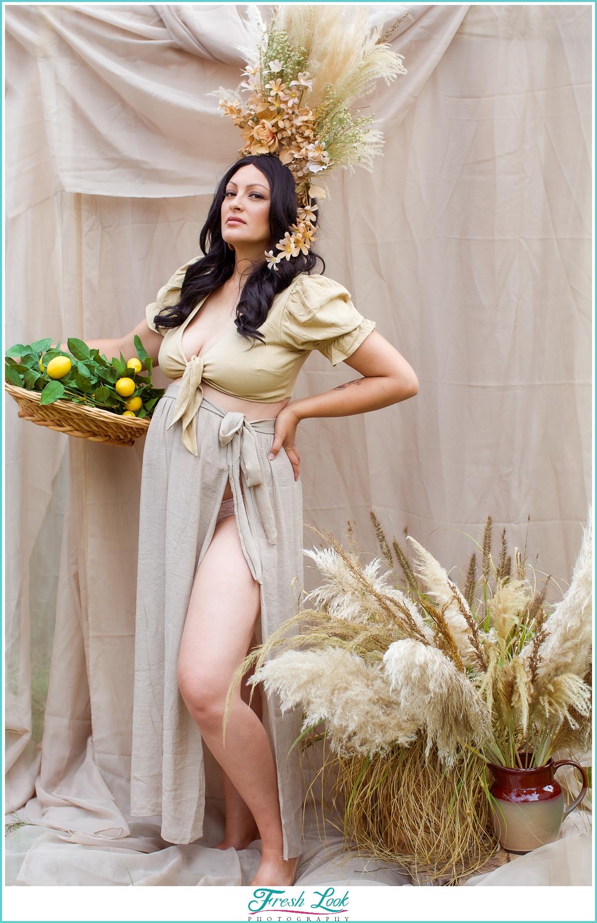 Goddess maternity photoshoot