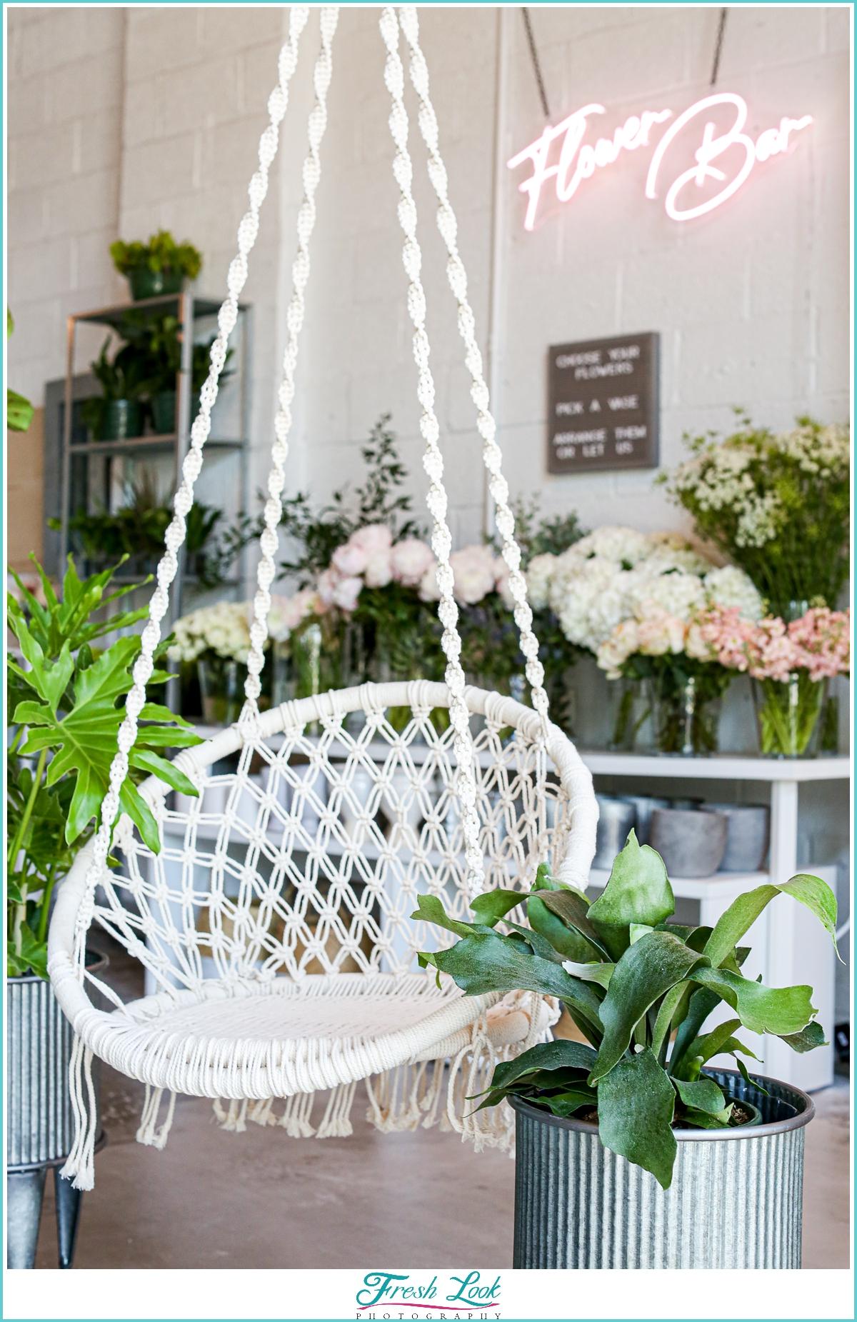 Flower Bar shop decor
