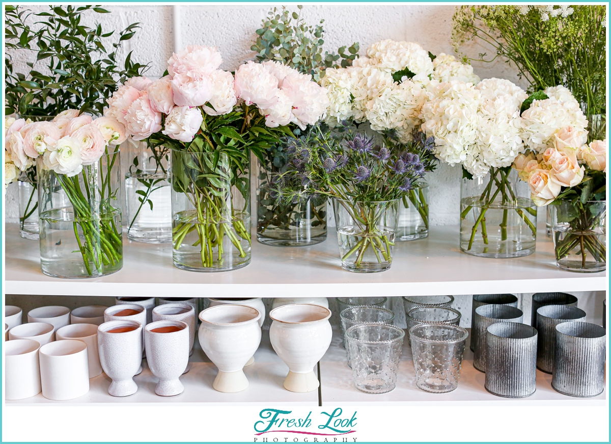 Make your own bouquet bar