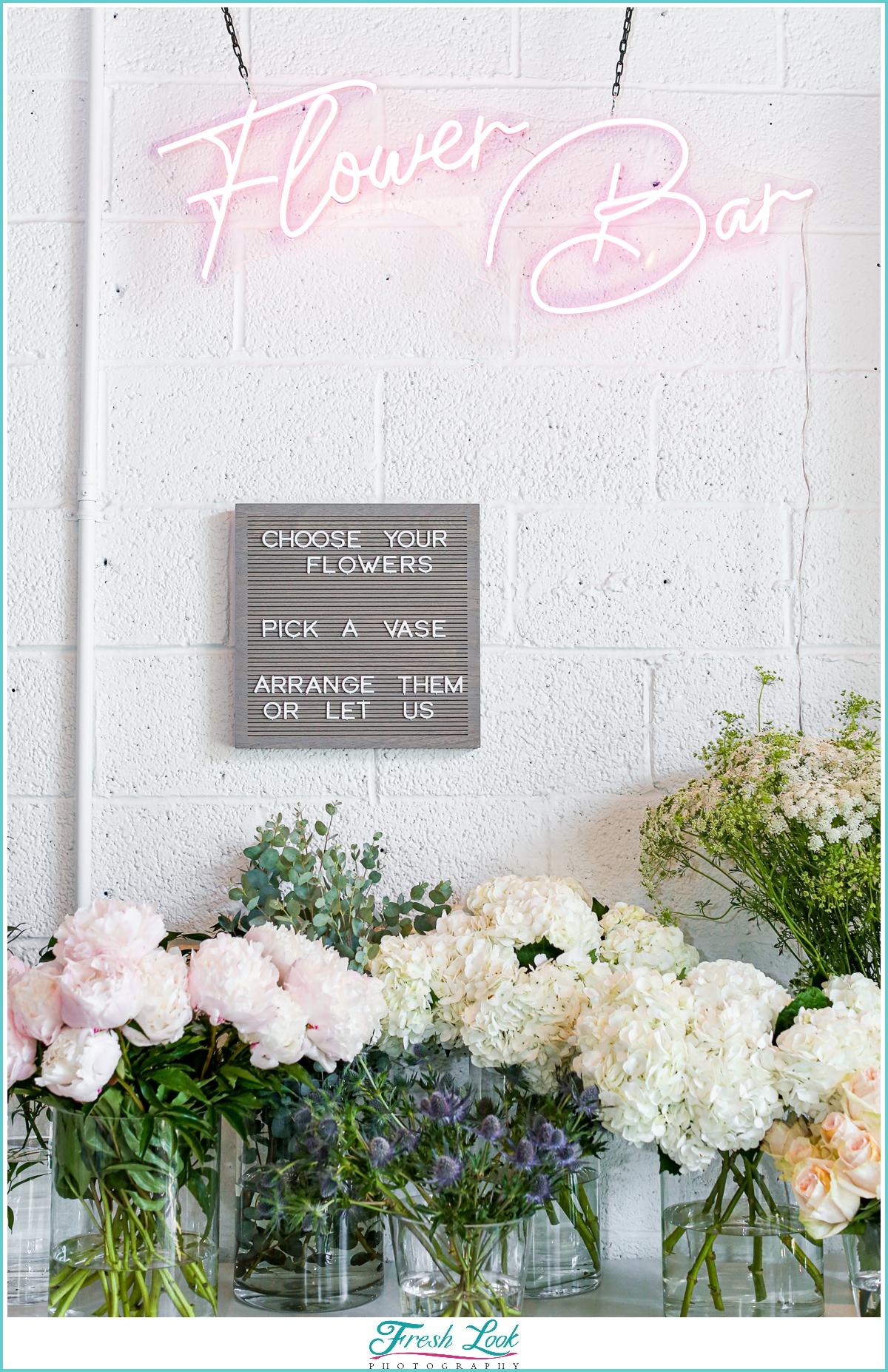 Norfolk Flower Bar neon sign