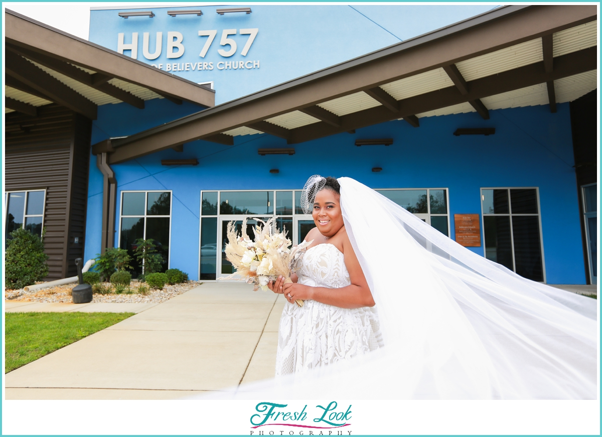 Cathedral Veil Bridal Session