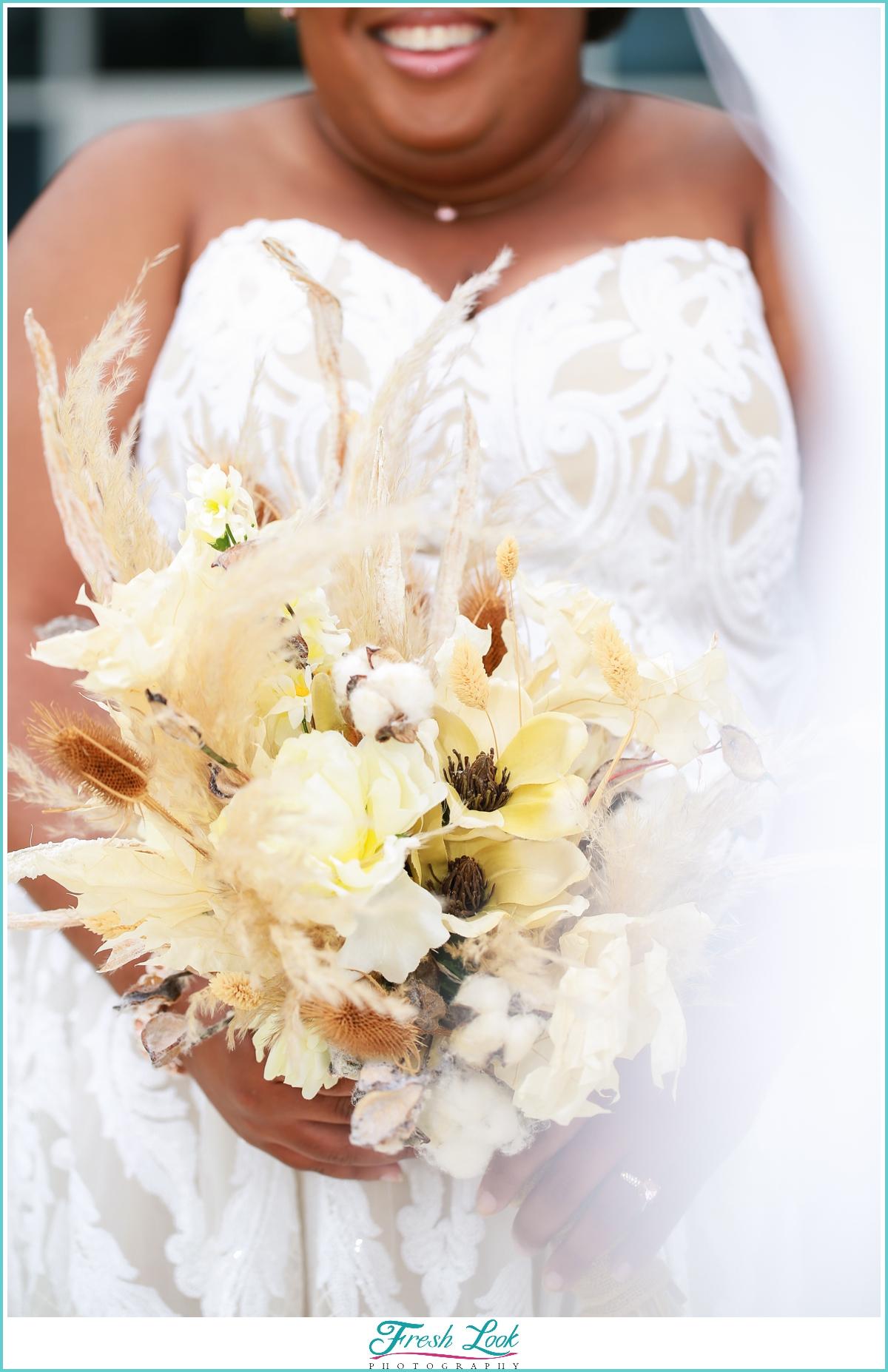 Jeff's Flowers of Course bridal bouquet
