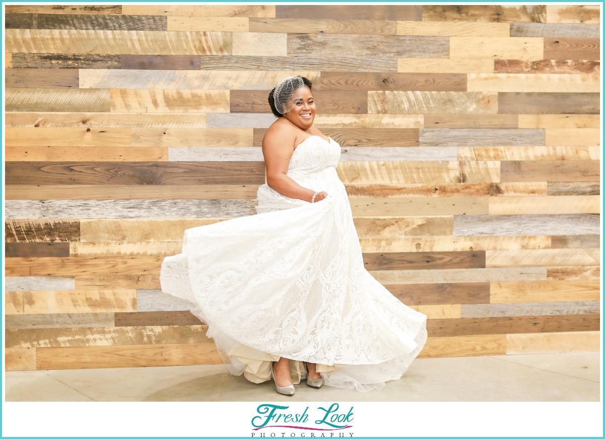 fun bridal portraits