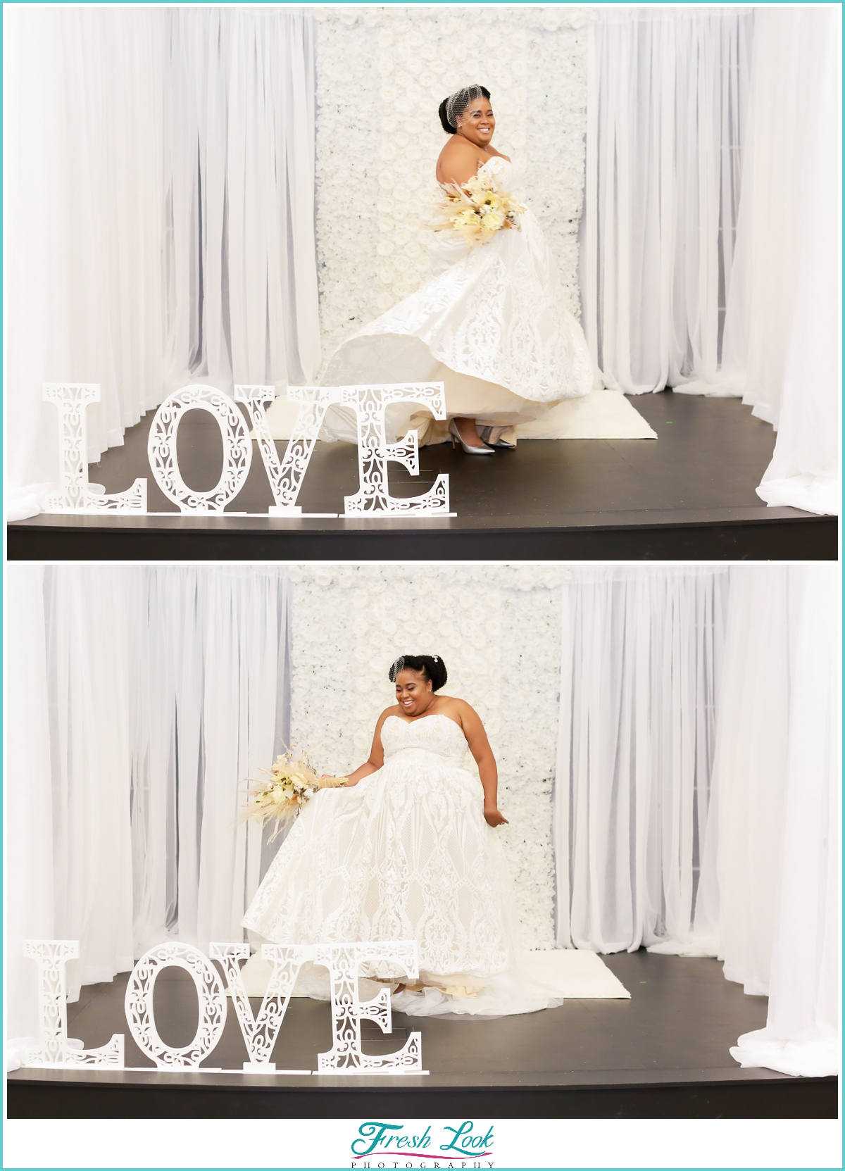 Twirling in the wedding gown