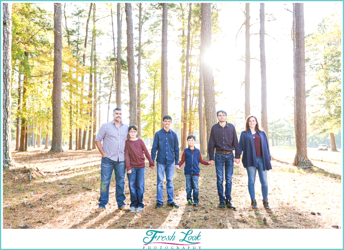 light and bright family photoshoot