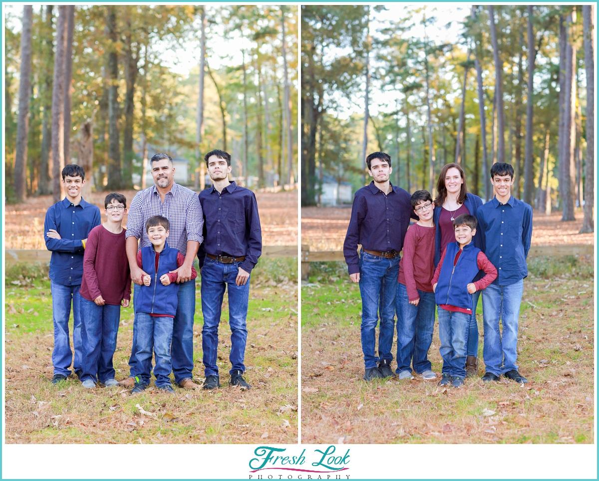 Fun woodsy family photos