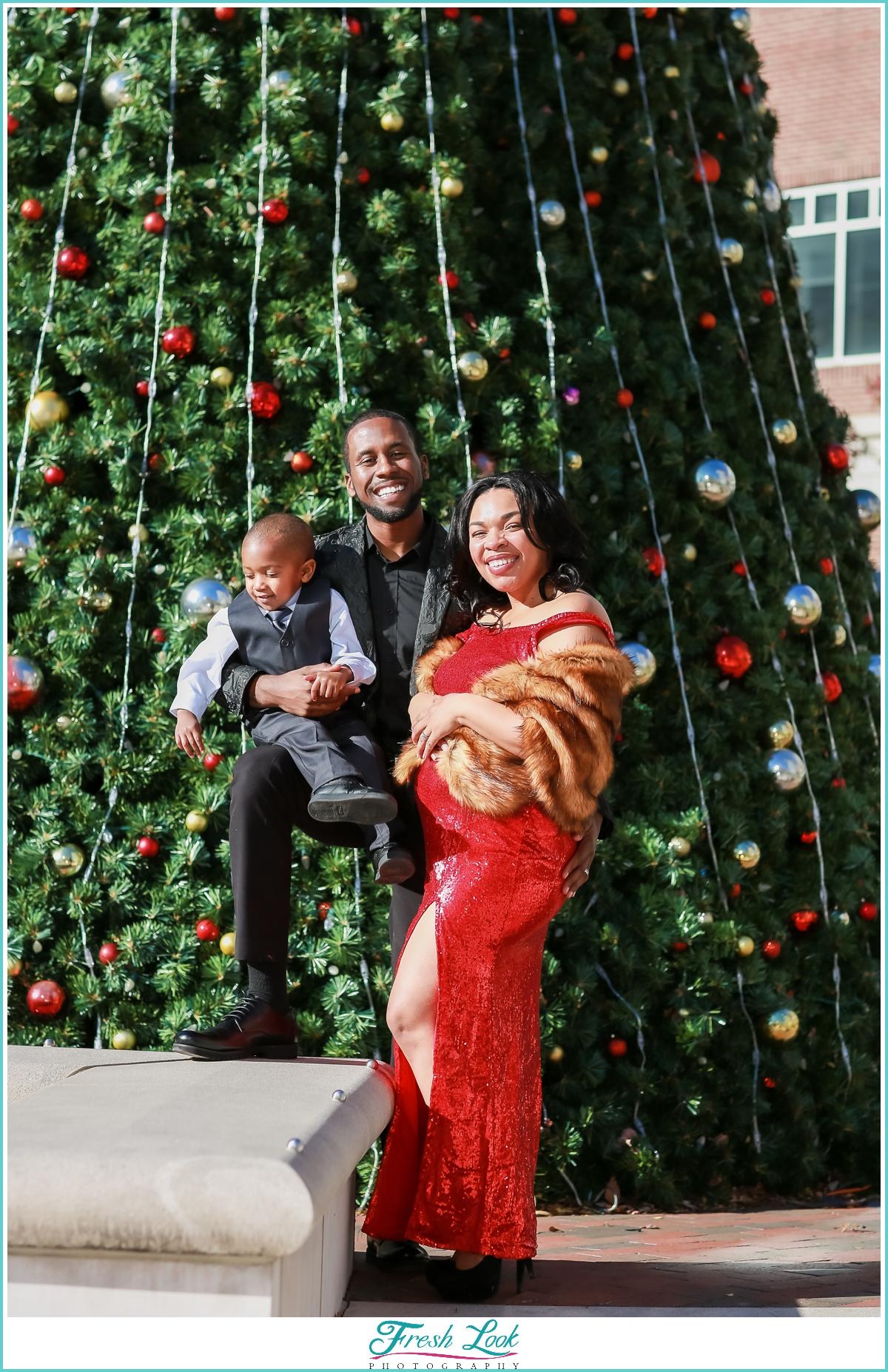 classy family photos in Town Center Virginia Beach