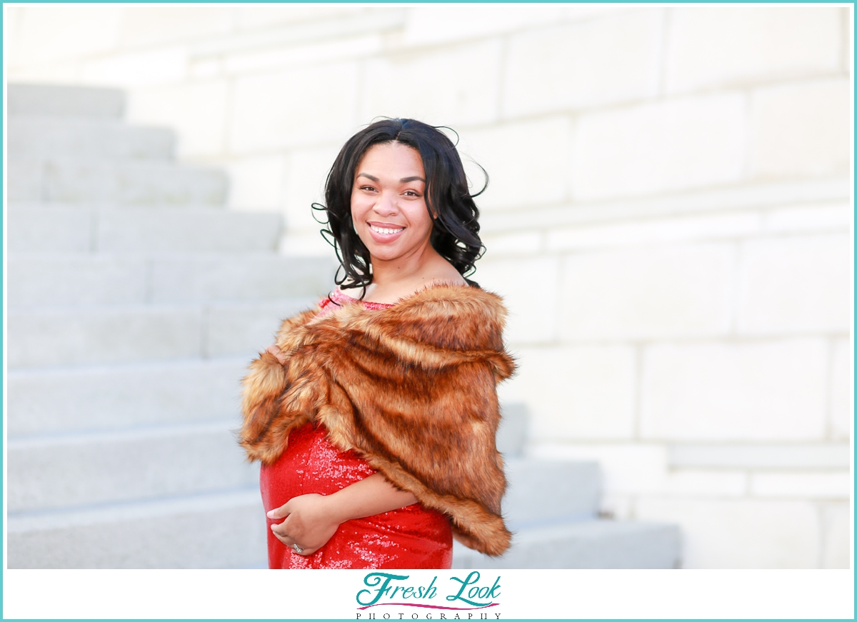 classy maternity photoshoot