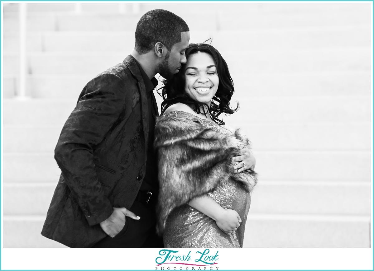 romantic black couples photoshoot