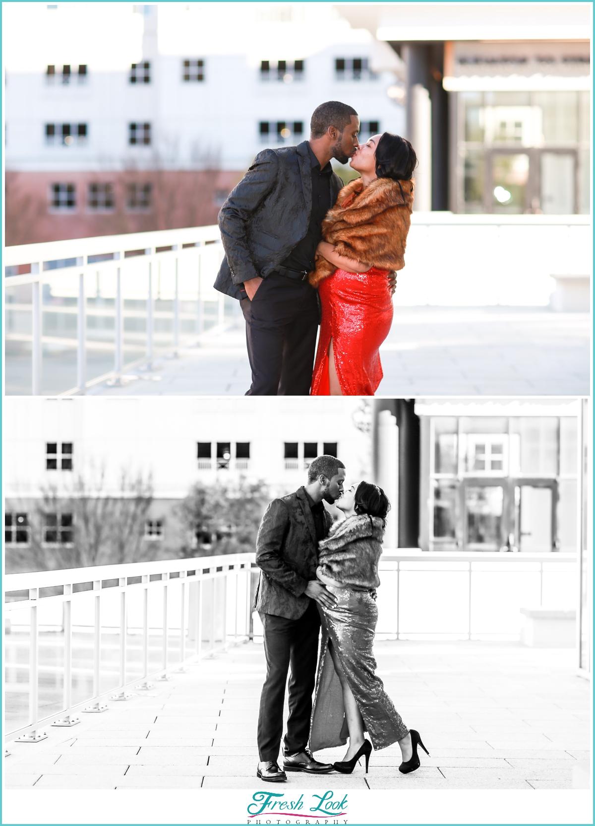 Town Center Virginia Beach romantic photos