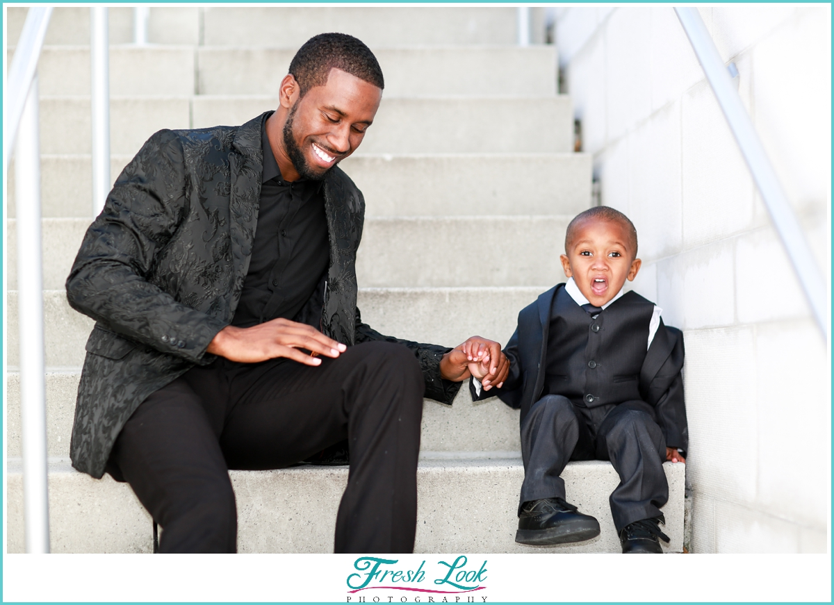 father and son family photoshoot