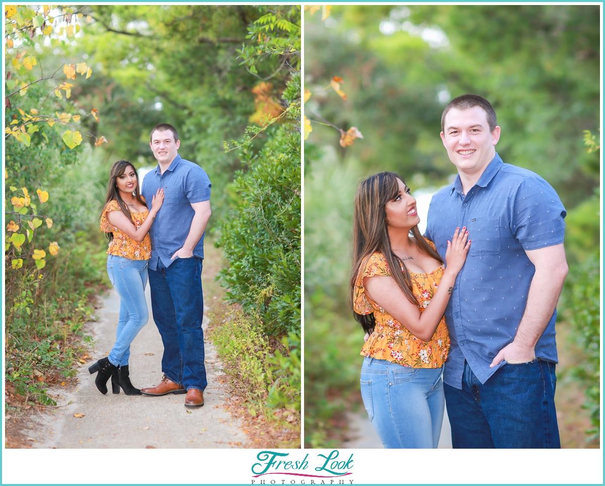 Woodsy engagement photoshoot