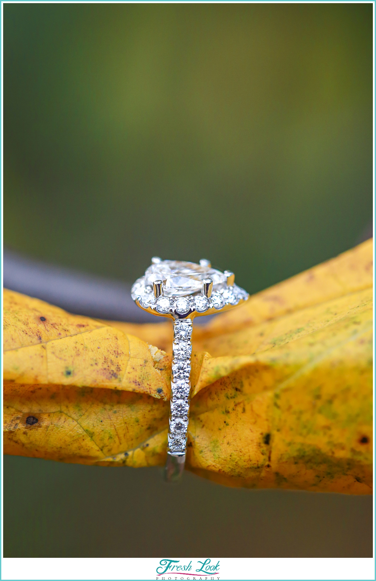 Diamond engagement ring details