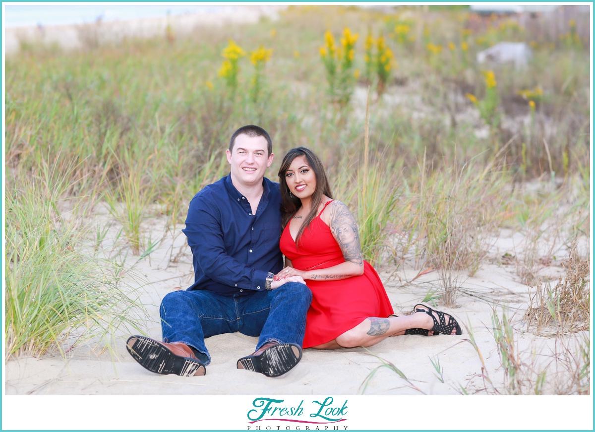 beach engagement photoshoot