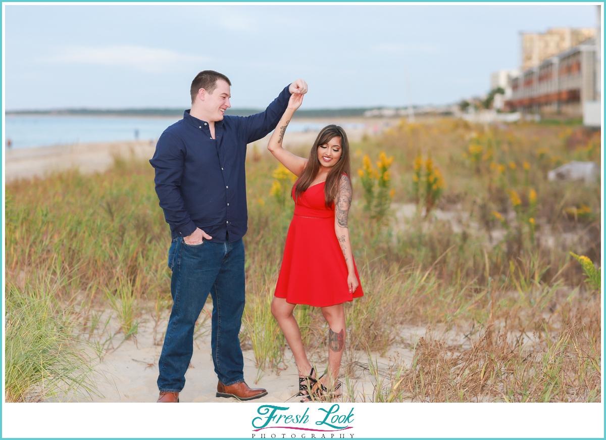 future husband and wife engagement photoshoot