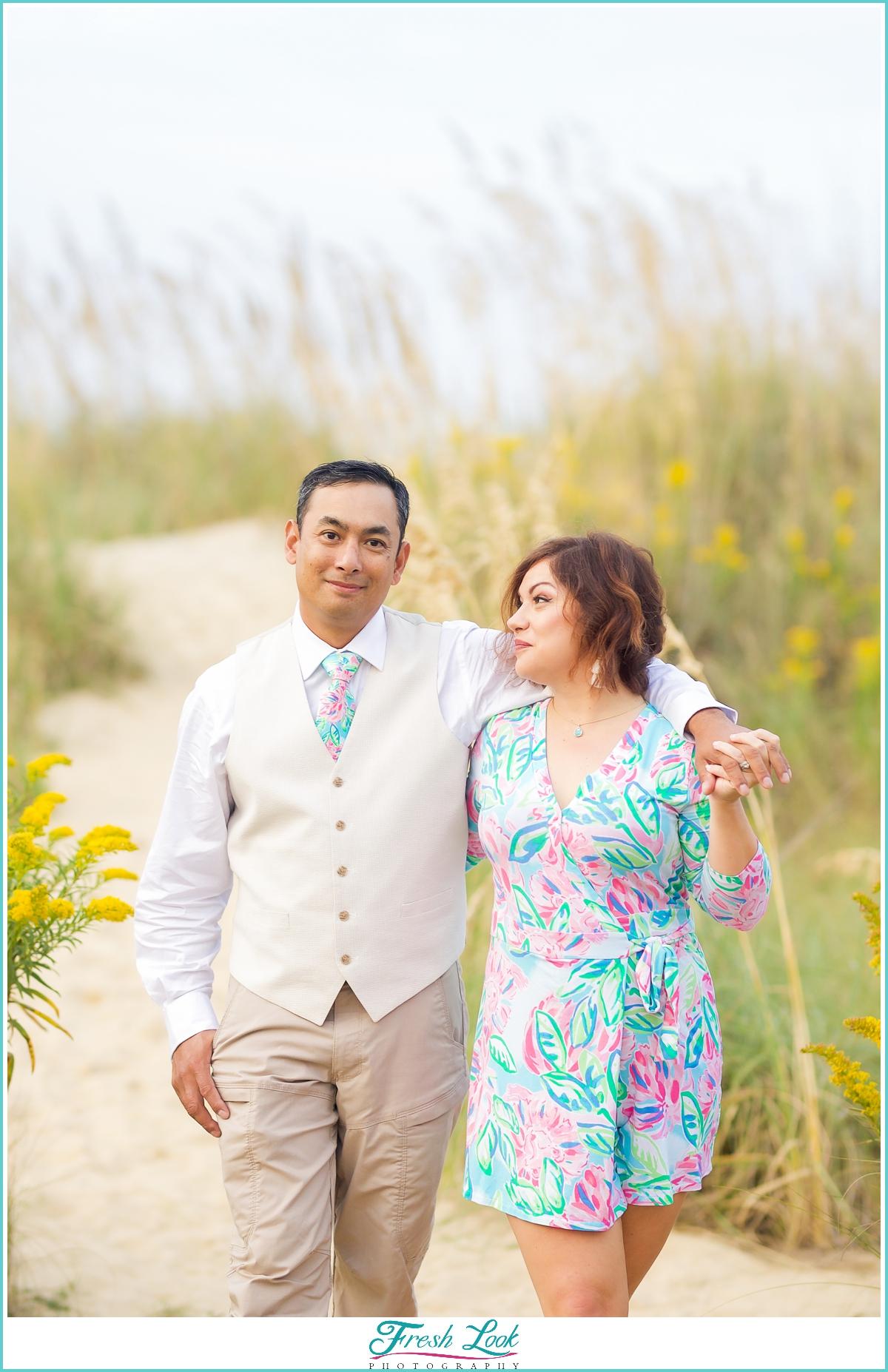 Virginia Beach engagement photoshoot