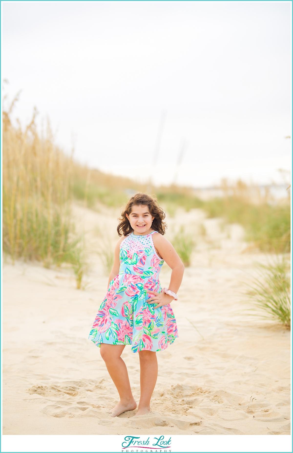 sassy little princess on the beach