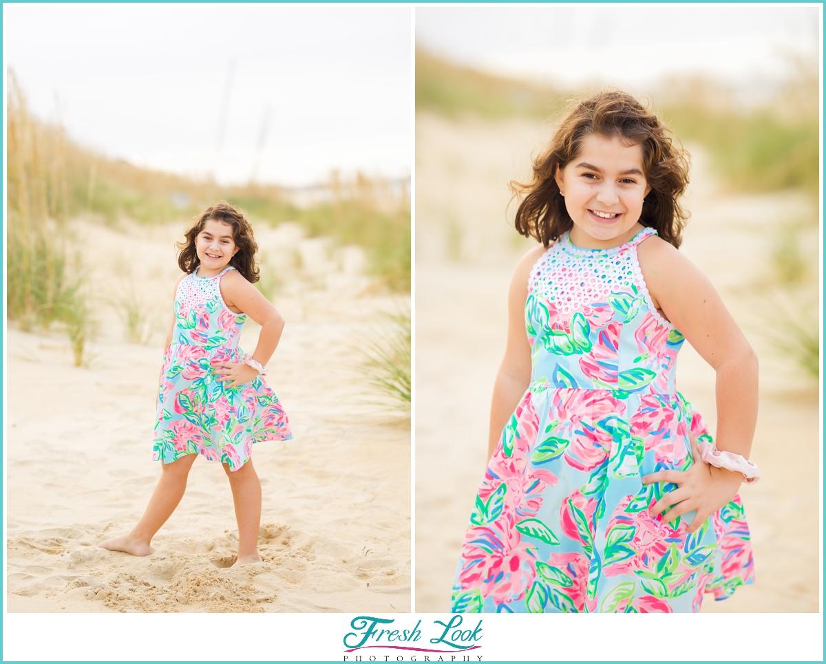 Lilly Pulitzer dress beach photoshoot