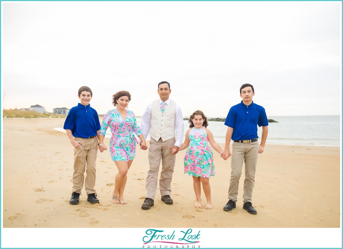 East Beach Norfolk family photoshoot