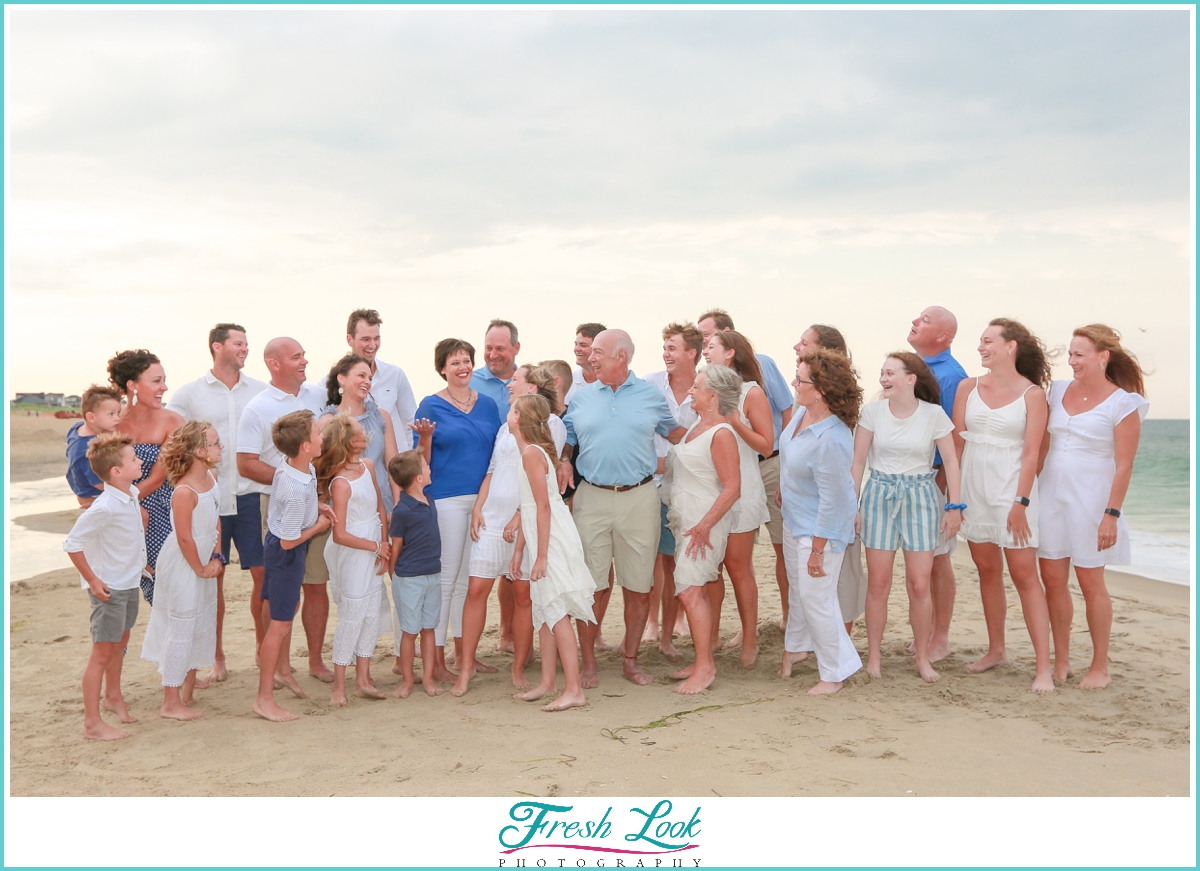fun beach family photography