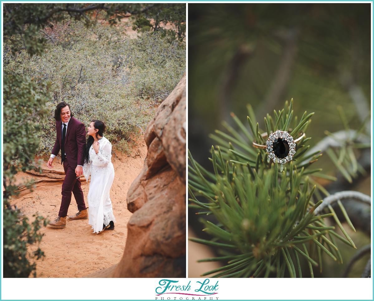 Zion national park engagement photos