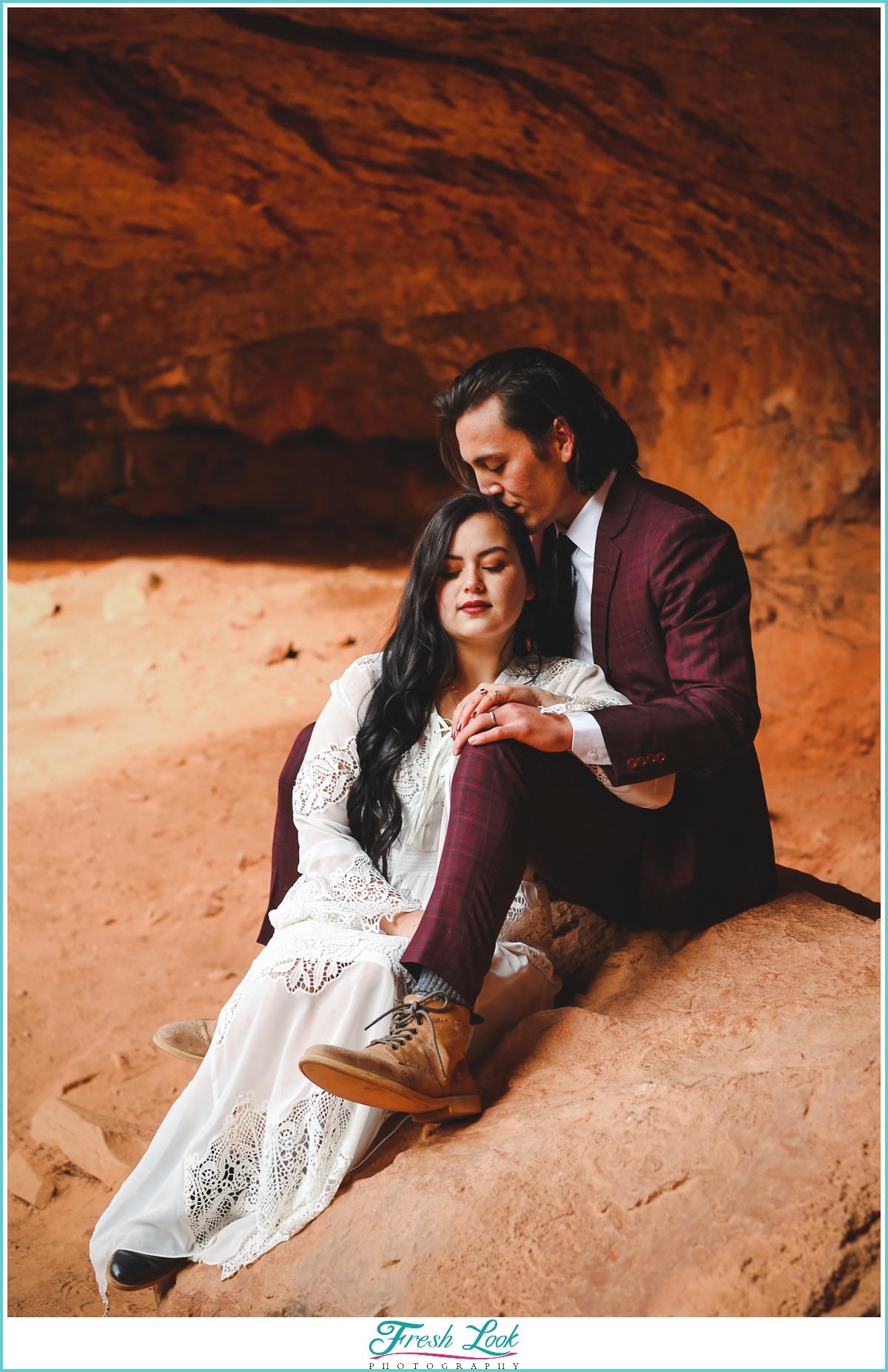 romantic elopement photographs