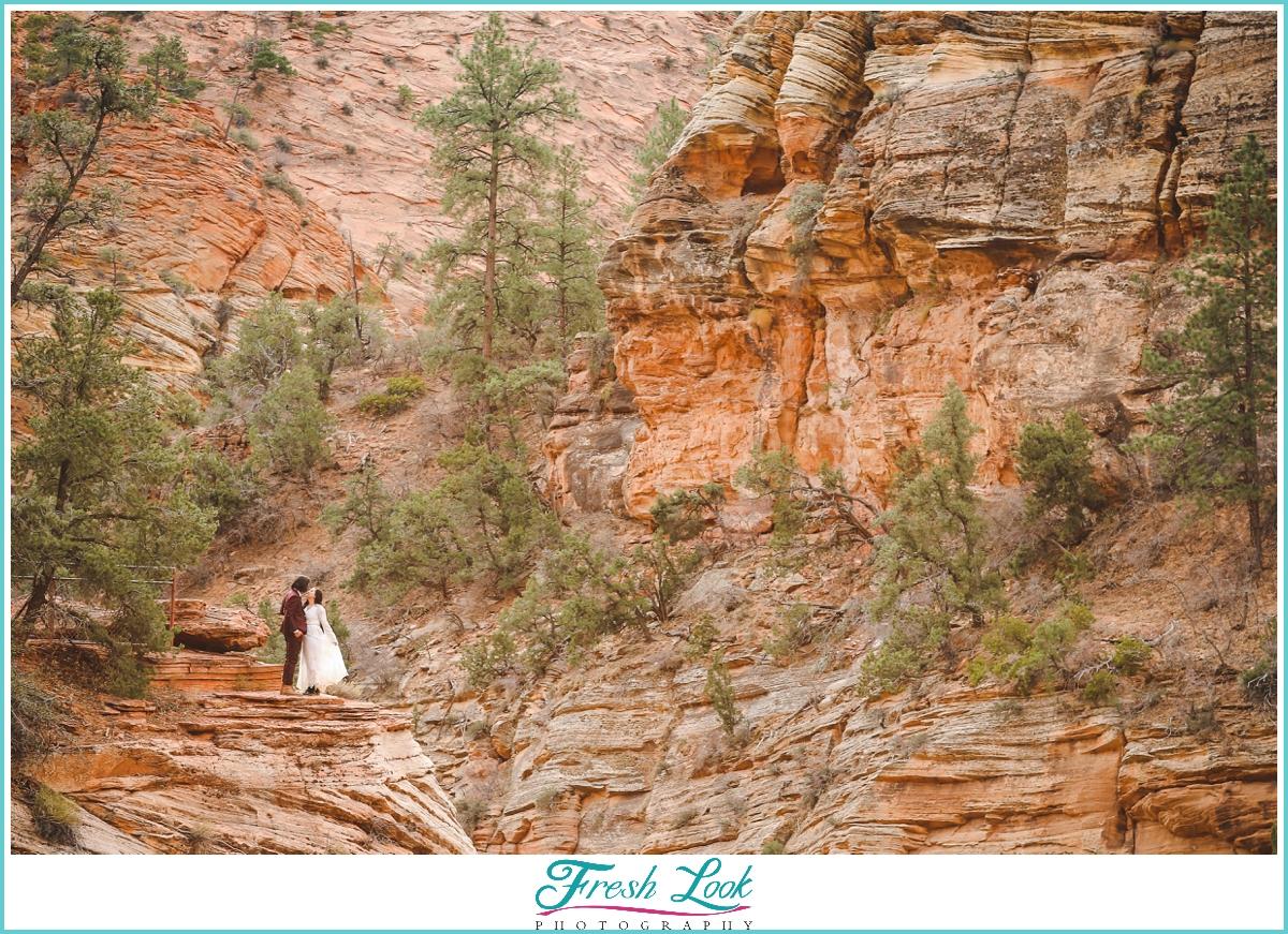 elopement photos on the mountain