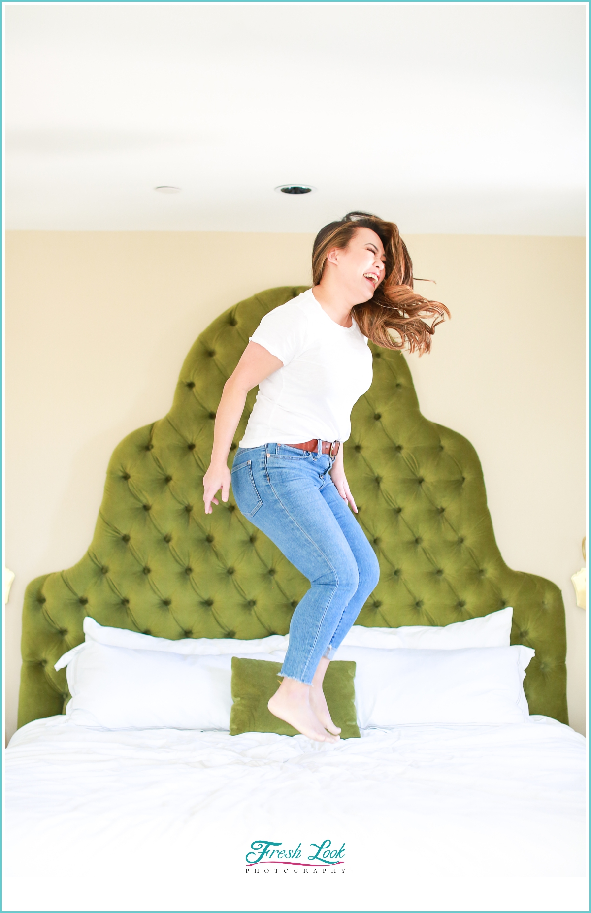 jumpin on the hotel bed