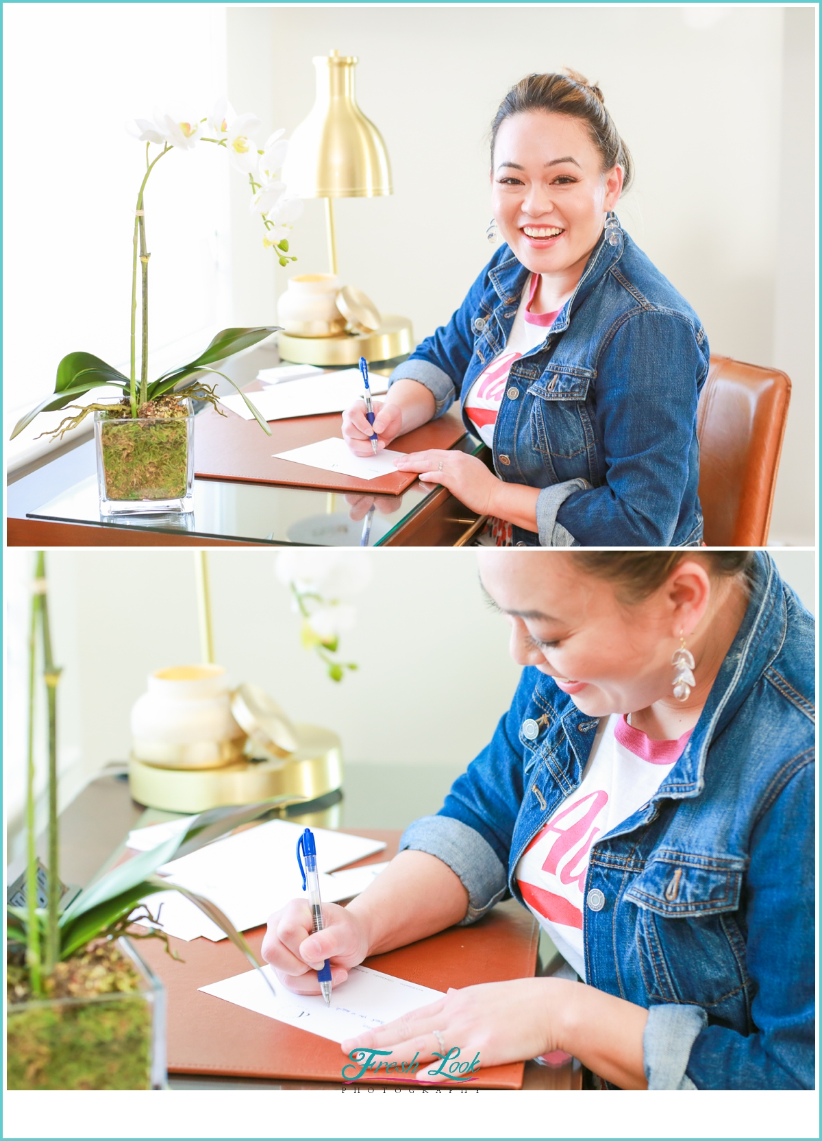 writing thank you notes to clients